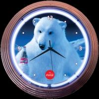 "Coca-Cola Polar Bear Neon Clock 15"" – Guaranteed bright and brilliant neon color! Quality neon clocks and neon wall clocks for less. Full 1-5 year no hassle warranty."