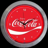 "Coca-Cola Wave Neon Clock 15"" – Guaranteed bright and brilliant neon color! Quality neon clocks and neon wall clocks for less. Full 1-5 year no hassle warranty."