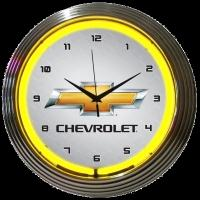 "GM Chevrolet Neon Clock 15"" – Guaranteed bright and brilliant neon color! Quality neon clocks and neon wall clocks for less. Full 1-5 year no hassle warranty."