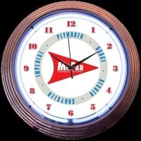 "Mopar Arrow Neon Clock 15"" – Guaranteed bright and brilliant neon color! Quality Americana neon wall clocks for less. Full 1-5 year no hassle warranty."