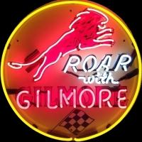 Gilmore Gasoline Neon Sign – Guaranteed bright and brilliant neon business signs! Our neon business signs feature quality ½ diameter neon glass tubing and whisper quiet UL listed neon business sign transformer. Full 1-5 year no hassle warranty.
