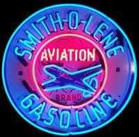 Smith-O-Lene Gasoline Neon Sign – Guaranteed bright and brilliant neon business signs! Our neon business signs feature quality ½ diameter neon glass tubing and whisper quiet UL listed neon business sign transformer. Full 1-5 year no hassle warranty.