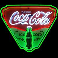 Coca-Cola Ice Cold Neon Sign – Guaranteed bright and brilliant neon business signs! Our neon business signs feature quality ½ diameter neon glass tubing and whisper quiet UL listed neon business sign transformer. Full 1-5 year no hassle warranty.