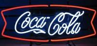 Coca-Cola Red & White Fishtail – Guaranteed bright and brilliant neon business signs! Our neon business signs feature quality ½ diameter neon glass tubing and whisper quiet UL listed neon business sign transformer. Full 1-5 year no hassle warranty.
