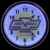 "Chevy Trucks 20"" – Guaranteed bright and brilliant neon color! Quality Americana neon wall clocks for less. Full 1-5 year no hassle warranty."