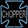 Chopper Cross Neon � Guaranteed bright and brilliant neon color! Quality ½ diameter neon light sculpture at a wholesale price. Full 1-year no hassle warranty.