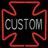 Custom Iron Cross � Guaranteed bright and brilliant neon color! Quality ½ diameter neon light sculpture at a wholesale price. Full 1-year no hassle warranty.