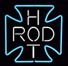 Hot Rod Cross Neon � Guaranteed bright and brilliant neon color! Quality ½ diameter neon light sculpture at a wholesale price. Full 1-year no hassle warranty.