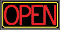 LIGHTBOX Open Sign Red/Yellow