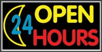LIGHTBOX Open Sign 24 Hours