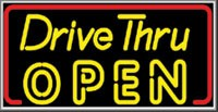 LIGHTBOX Open Sign Drive Thru