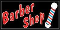 LIGHTBOX Barber Shop Sign