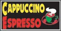 LIGHTBOX Cappuccino Espresso Sign