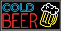 LIGHTBOX Cold Beer Sign