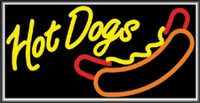 LIGHTBOX Hot Dogs Sign
