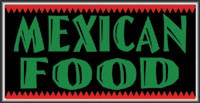 LIGHTBOX Mexican Food Sign