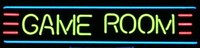 Game Room Neon Sign – Guaranteed bright and brilliant neon business signs! Our neon business signs feature quality ½ diameter neon glass tubing and whisper quiet UL listed neon business sign transformer. Full 1-5 year no hassle warranty.