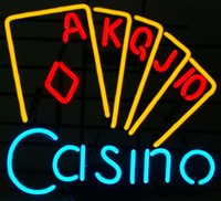 Casino Royal Flush Neon Sign – Guaranteed bright and brilliant neon business signs! Our neon business signs feature quality ½ diameter neon glass tubing and whisper quiet UL listed neon business sign transformer. Full 1-5 year no hassle warranty.