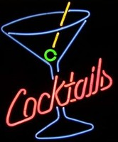 Cocktails Martini Glass Sign – Guaranteed bright and brilliant neon business signs! Our neon business signs feature quality ½ diameter neon glass tubing and whisper quiet UL listed neon business sign transformer. Full 1-5 year no hassle warranty.