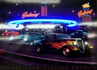 Galaxy Diner Neon LED Art – Guaranteed bright and brilliant neon color! Quality framed neon light pictures and neon art posters for less. Full 1-year no hassle warranty.