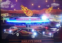 Hailey's Diner Neon LED Art – Guaranteed bright and brilliant neon color! Quality framed neon light pictures and neon art posters for less. Full 1-year no hassle warranty.