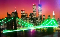 New York Skyline Neon LED Art – Guaranteed bright and brilliant neon color! Quality framed neon light pictures and neon art posters for less. Full 1-year no hassle warranty.