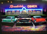 Roadside Diner Neon LED Art – Guaranteed bright and brilliant neon color! Quality framed neon light pictures and neon art posters for less. Full 1-year no hassle warranty.