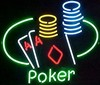 NEON Poker Chips � Guaranteed bright and brilliant neon bar signs! Our neon bar signs feature quality ½ diameter neon glass tubing and whisper quiet UL listed neon bar sign transformer. Full 1-5 year no hassle warranty.