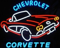 1950's Chevrolet Corvette Neon Sign