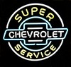 Chevrolet Service Sign � Guaranteed bright and brilliant neon bar signs! Our neon bar signs feature quality ½ diameter neon glass tubing and whisper quiet UL listed neon bar sign transformer. Full 1-5 year no hassle warranty.