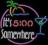 NEON 5:00 Somewhere � Guaranteed bright and brilliant neon bar signs! Our neon bar signs feature quality ½ diameter neon glass tubing and whisper quiet UL listed neon bar sign transformer. Full 1-5 year no hassle warranty.
