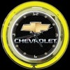 "Chevrolet 14"" – Guaranteed bright and brilliant neon color! Quality Americana neon wall clocks for less. Full 1-5 year no hassle warranty."