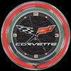 "Corvette C6 Black 14"" – Guaranteed bright and brilliant neon color! Quality Americana neon wall clocks for less. Full 1-5 year no hassle warranty."