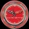 "Corvette C6 Red 14"" – Guaranteed bright and brilliant neon color! Quality Americana neon wall clocks for less. Full 1-5 year no hassle warranty."