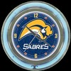 "Buffalo Sabres 14"" – Guaranteed bright and brilliant neon color! Quality neon clocks and neon wall clocks for less. Full 1-5 year no hassle warranty."