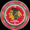 "Chicago Blackhawks 14"" – Guaranteed bright and brilliant neon color! Quality neon clocks and neon wall clocks for less. Full 1-5 year no hassle warranty."