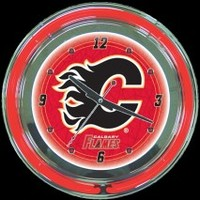 "Calgary 14"" Double Neon Clock – Guaranteed bright and brilliant neon color! Quality neon clocks and neon wall clocks for less. Full 1-5 year no hassle warranty."