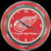 "Detroit Redwings 14"" – Guaranteed bright and brilliant neon color! Quality neon clocks and neon wall clocks for less. Full 1-5 year no hassle warranty."