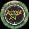 "Dallas Stars 14"" – Guaranteed bright and brilliant neon color! Quality neon clocks and neon wall clocks for less. Full 1-5 year no hassle warranty."