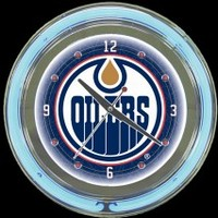 "Edmonton Oilers 14"" Neon Clock – Guaranteed bright and brilliant neon color! Quality neon clocks and neon wall clocks for less. Full 1-5 year no hassle warranty."