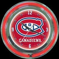 "Montreal Canadiens 14"" Neon Clock – Guaranteed bright and brilliant neon color! Quality neon clocks and neon wall clocks for less. Full 1-5 year no hassle warranty."
