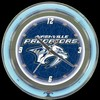 "Nashville Predators 14"" – Guaranteed bright and brilliant neon color! Quality neon clocks and neon wall clocks for less. Full 1-5 year no hassle warranty."