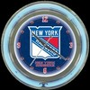 "New York Rangers 14"" – Guaranteed bright and brilliant neon color! Quality neon clocks and neon wall clocks for less. Full 1-5 year no hassle warranty."