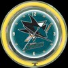 "San Jose Sharks 14"" – Guaranteed bright and brilliant neon color! Quality neon clocks and neon wall clocks for less. Full 1-5 year no hassle warranty."
