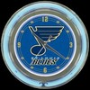 "St. Louis Blues 14"" – Guaranteed bright and brilliant neon color! Quality neon clocks and neon wall clocks for less. Full 1-5 year no hassle warranty."