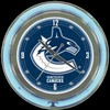 "Vancouver Canucks 14"" – Guaranteed bright and brilliant neon color! Quality neon clocks and neon wall clocks for less. Full 1-5 year no hassle warranty."