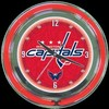 "Washington Capitals 14"" – Guaranteed bright and brilliant neon color! Quality neon clocks and neon wall clocks for less. Full 1-5 year no hassle warranty."