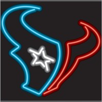 Houston Texans Neon Sign – Guaranteed bright and brilliant NFL neon signs! Our NFL neon signs feature quality ½ diameter neon glass tubing and whisper quiet UL listed neon sign transformer. Full 1-5 year no hassle warranty.