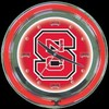 "NC State 14"" – Guaranteed bright and brilliant neon color! Quality neon clocks and neon wall clocks for less. Full 1-5 year no hassle warranty."