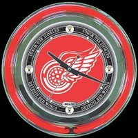 "Detroit Vintage 14"" Neon Clock – Guaranteed bright and brilliant neon color! Quality neon clocks and neon wall clocks for less. Full 1-5 year no hassle warranty."